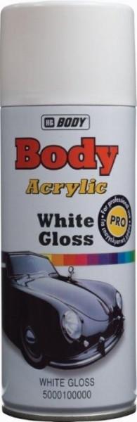 HB BODY  farba na radiátory biela MATNÁ  V SPREJI 400ML