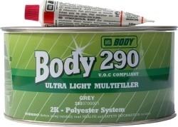 HB BODY 290 ultralight - odľahčený tmel šedý 1L