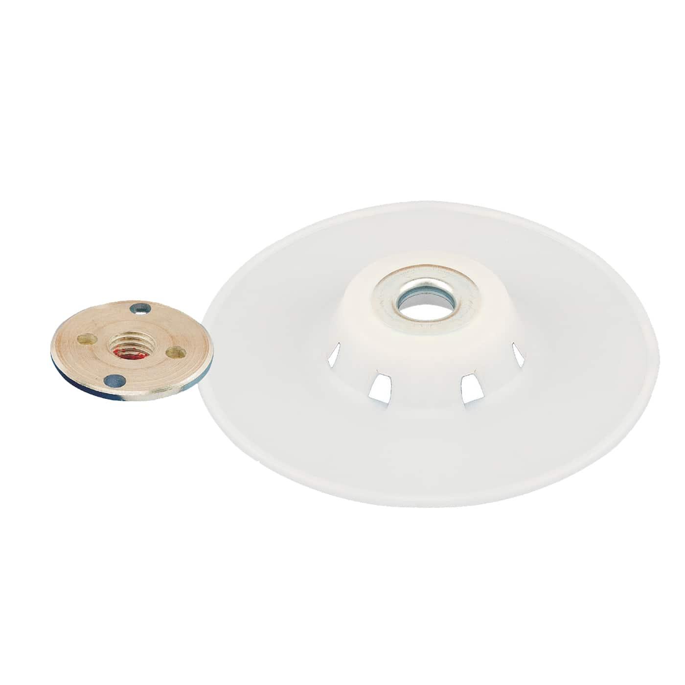Smirdex 939 úchytný kotúč plastový biely set /paid - locknut/ 115mm