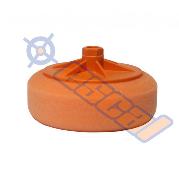 Oranžový hobby leštiaci kotúč na závit stredný, priemer 150mm