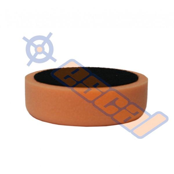 Oranžový hobby leštiaci kotúč na suchý zips stredný, priemer 150mm