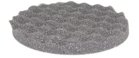 ETALON leštiaci kotúč na suchý zips 150mm x 25mm perforovaný jemný čierny