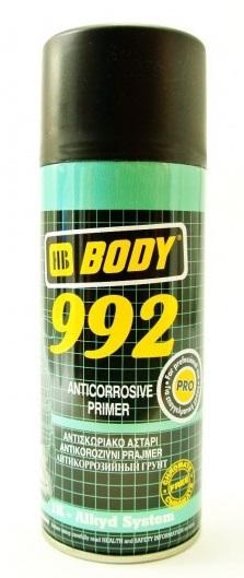 HB BODY 992 1k antikorózny základ v spreji čierny 400 ml