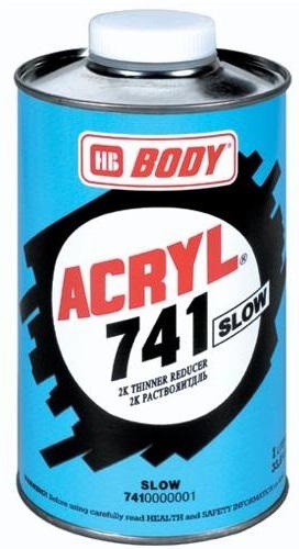 HB BODY 741 akrylové riedidlo pomalé 1L