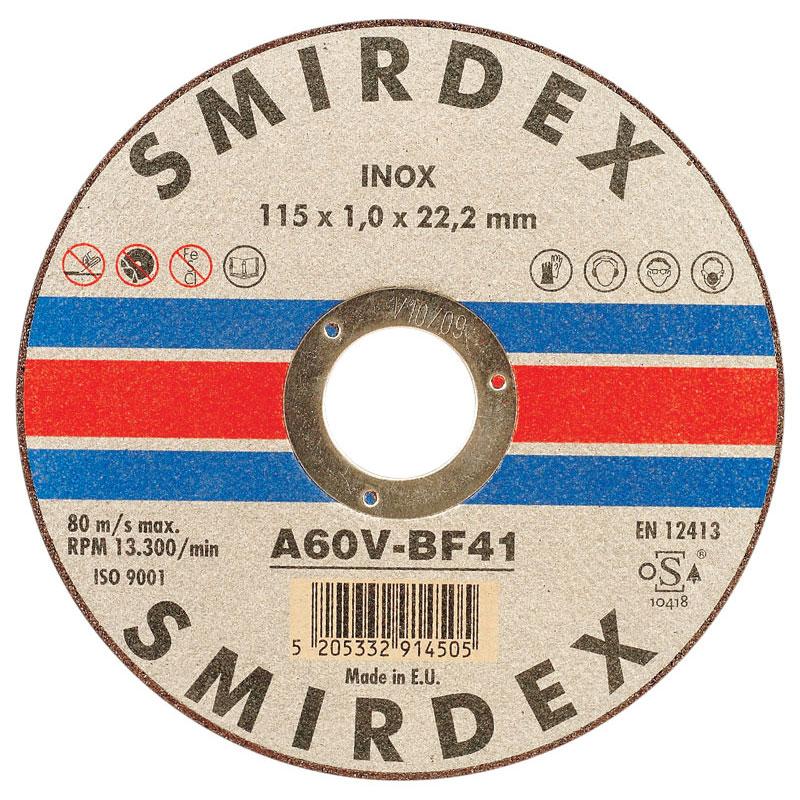 Smirdex 913 rezný disk Inox 115x6,4x22